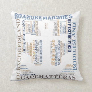 Outer Banks Subway Art Pillow with Anchor