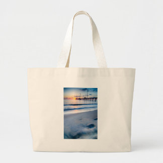 outer banks sunrise at nags head large tote bag