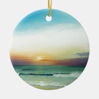 Outer Banks Sunrise Ceramic Ornament