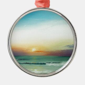Outer Banks Sunrise Metal Ornament