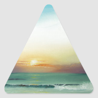 Outer Banks Sunrise Triangle Sticker