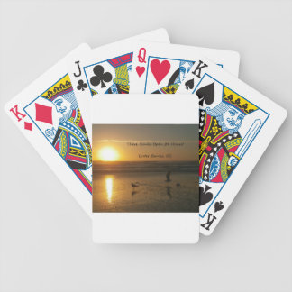 Outer Banks Sunrise:  These Banks Open 24 Hours! Bicycle Playing Cards