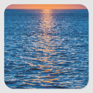 outer banks sunrset at cap hatteras square sticker