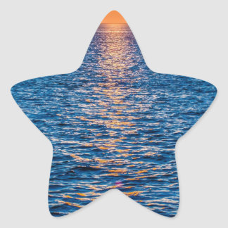 outer banks sunrset at cap hatteras star sticker