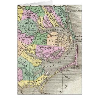 Outer Banks y mapa del este de Carolina del Norte  Felicitacion