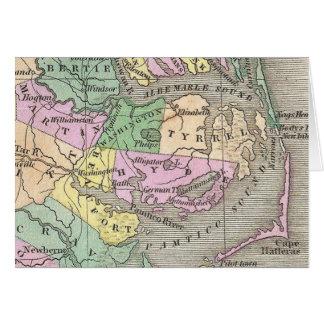 Outer Banks y mapa del este de Carolina del Norte  Tarjeta