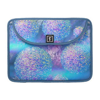 Outer Flow III  Abstract Fractal Aqua Azure Galaxy Sleeve For MacBooks