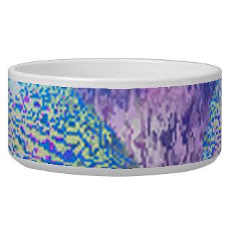 Outer Flow III  Abstract Fractal Cyan Azure Galaxy Bowl