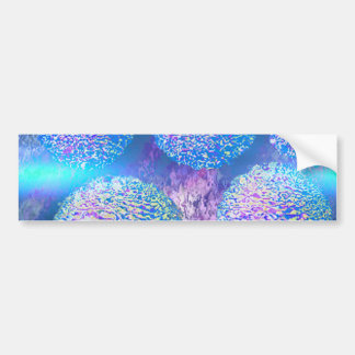 Outer Flow III  Abstract Fractal Cyan Azure Galaxy Bumper Sticker