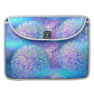 Outer Flow III  Abstract Fractal Cyan Azure Galaxy Sleeves For MacBooks