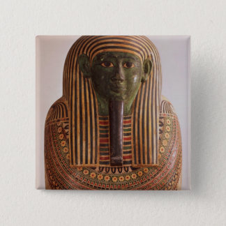 Outer lid of the sarcophagus of Psametik I (664-61 Pinback Button