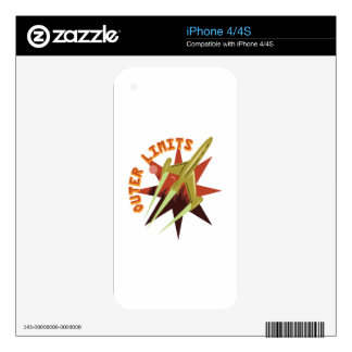 Outer Limits Rocket Decals For iPhone 4