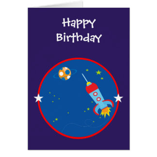 Outer Space 1 Birthday Card