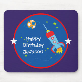 Outer Space 1 Birthday Mousepad
