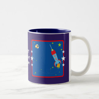 Outer Space 1 Birthday Mugs