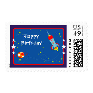 Outer Space 1 Birthday Postage