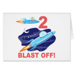 Outer Space 2nd Birthday Card
