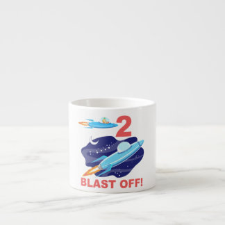 Outer Space 2nd Birthday Espresso Cup