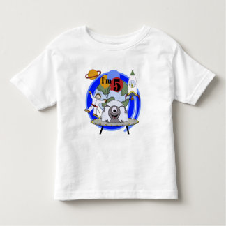 Outer Space 5th Birthday Tshirts and Gifts