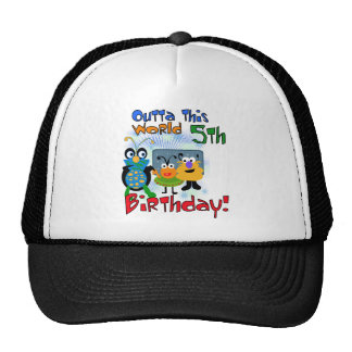 Outer Space 5th Birthday Tshirts and Gifts Trucker Hat