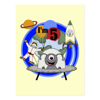 Outer Space 5th Birthday Tshirts and Gifts Postcard