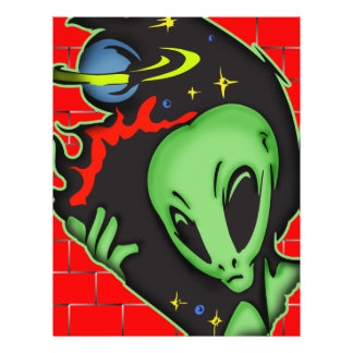 Outer Space Alien Flyer