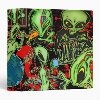 Outer Space Aliens Binder