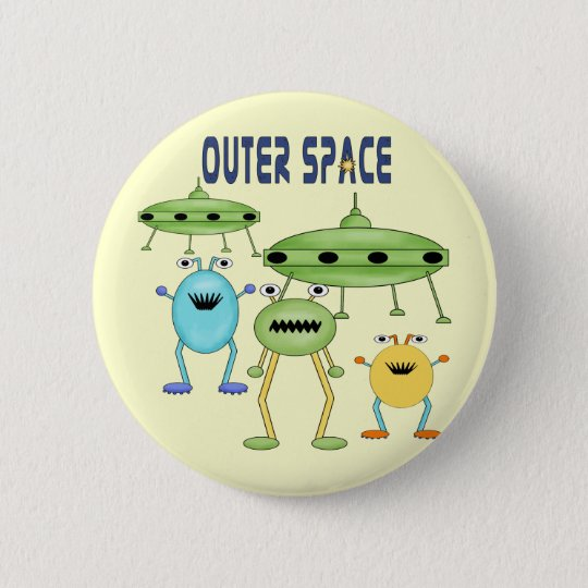 Outer Space Aliens Button