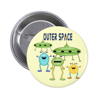 Outer Space Aliens Pins