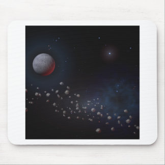 Outer Space Asteroids & Planets Mouse Pad