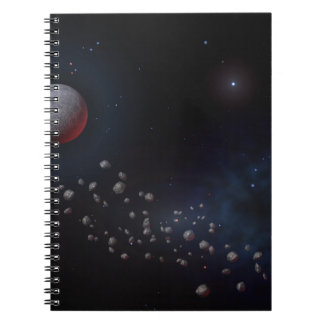 Outer Space Asteroids & Planets Notebook