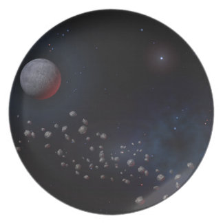 Outer Space Asteroids & Planets Party Plate