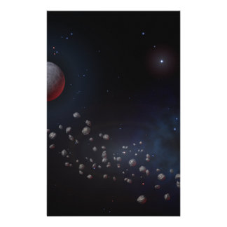 Outer Space Asteroids & Planets Stationery