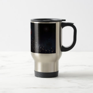 Outer Space Asteroids & Planets Travel Mug