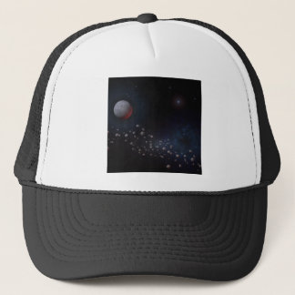 Outer Space Asteroids & Planets Trucker Hat