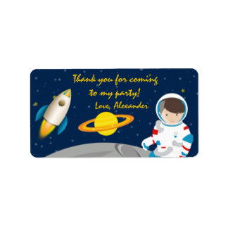 Outer Space Astronaut Birthday Favor Tags