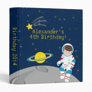 Outer Space Astronaut  Birthday Photo Album Binder