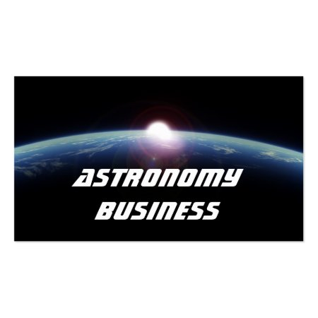 Planet Earth with Rising Sun from Outer Space Astronomy Business Card Templates