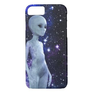 Outer Space Being on iPhone 7 Case