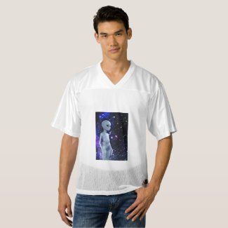 Outer Space Being on Men's T-Shirt