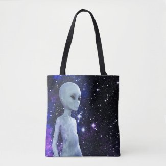 Outer Space Being on Tote Bag