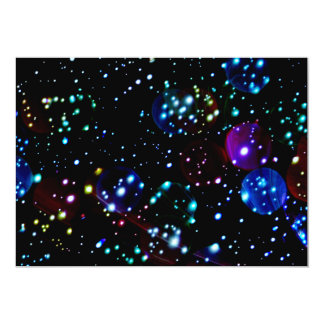"Outer Space Birthday Invites 5"" X 7"" Invitation Card"