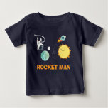 Outer Space Birthday T-shirt Rocket Astronaut