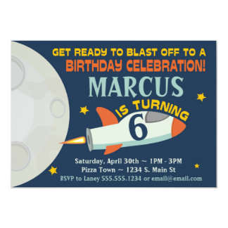 Outer Space Boy's Birthday Invitations