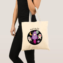 Outer Space Cat Astronaut Girls Personalized Tote Bag