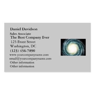 Outer Space Center of the Universe Business Card Template
