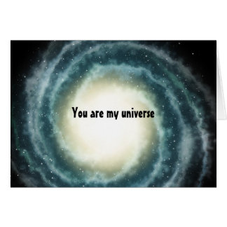 Outer Space Center of the Universe Card