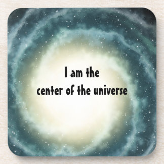 Outer Space Center of the Universe Drink Coaster