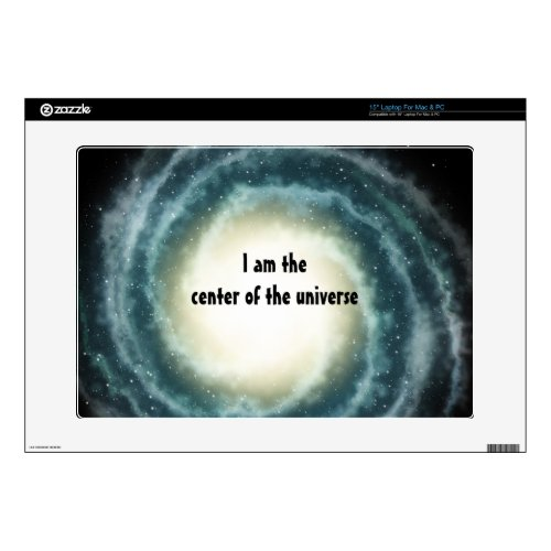 """Outer Space Center of the Universe Skin For 15"""" Laptop"""