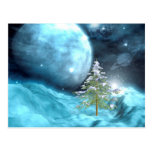 Outer Space Christmas Postcard